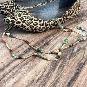 Vintage beaded necklace cloisonné